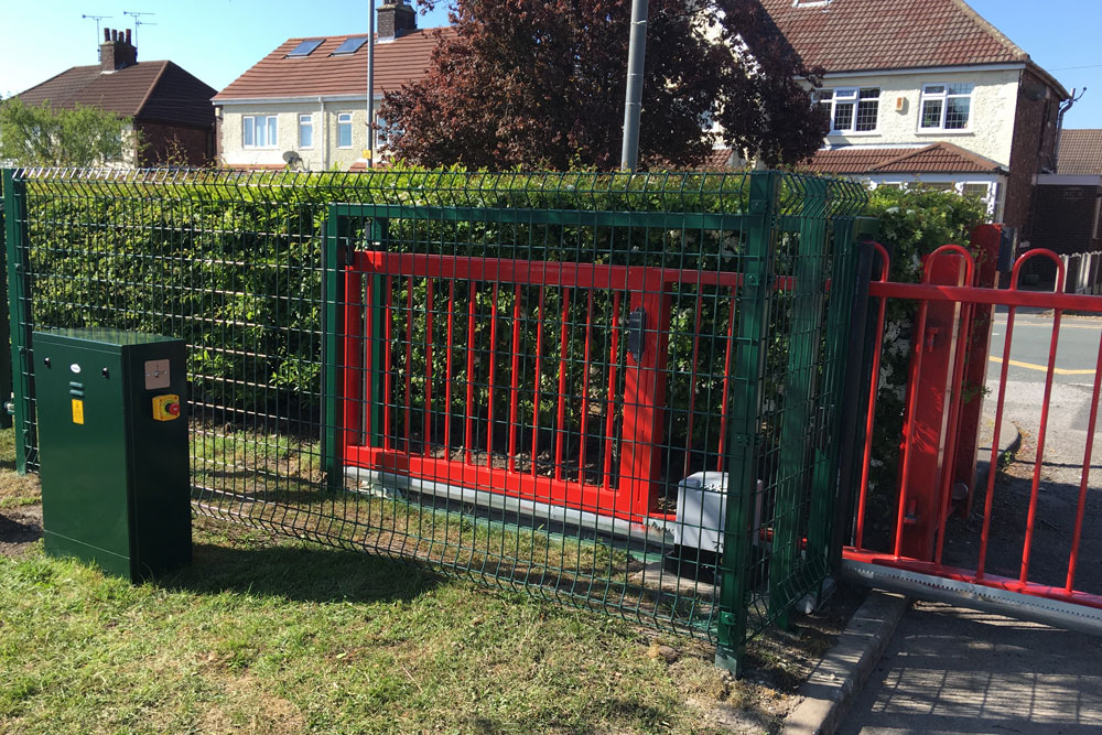 Rainford CE Primary School Sliding Gate And Intercom